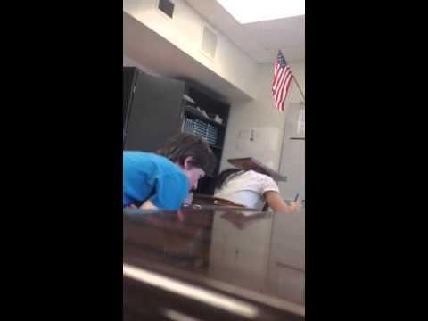 NilesWest student falling asleep in class