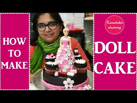 how to make Barbie doll:Cake Decorating Tutorial