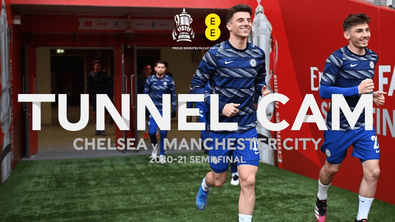 Behind The Scenes At Wembley Stadium As Chelsea Advance To Emirates FA Cup Final   Tunnel Cam   EE