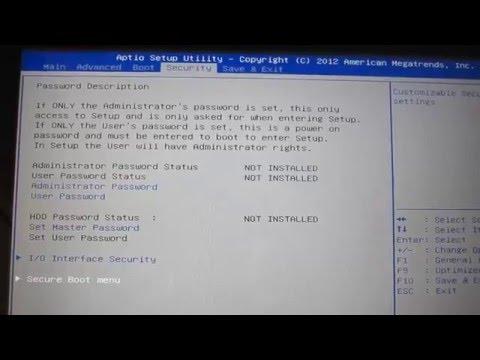 Enable USB booting Asus N550J Laptop