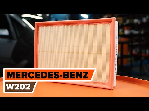 How to replace air filter MERCEDES-BENZ C W202 TUTORIAL | AUTODOC