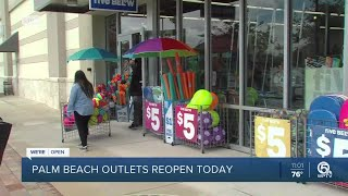 Palm Beach Outlets open for business Monday in West Palm Beach