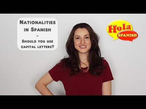 Nationality in Spanish | HOLA SPANISH