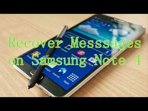 How to Recover Deleted Messages from Samsung Note 4?