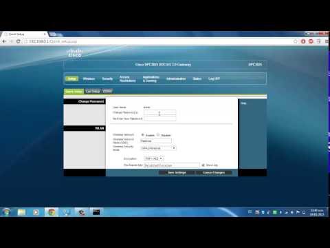 Como cambiar nombre y contraseña de modem Cisco Cablevision