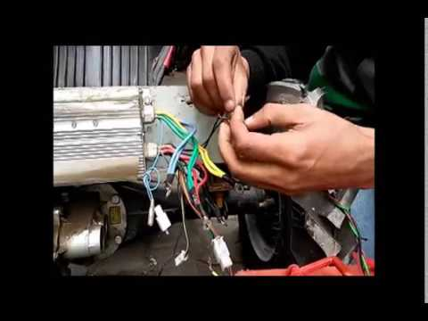 Connections and Wiring of Brushless dc motor 48v with controller