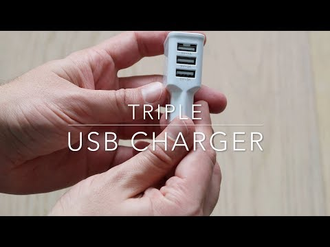 Triple USB charger