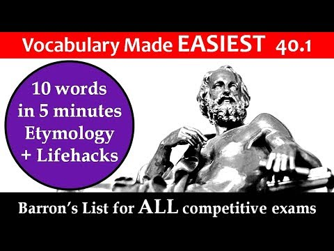 vocabulary made EASIEST 40.1 Learn etymology by puneet biseria