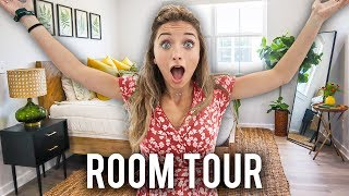 Brooklyn's NEW College ROOM TOUR!   Zippered Bedding, Decor, and MORE!