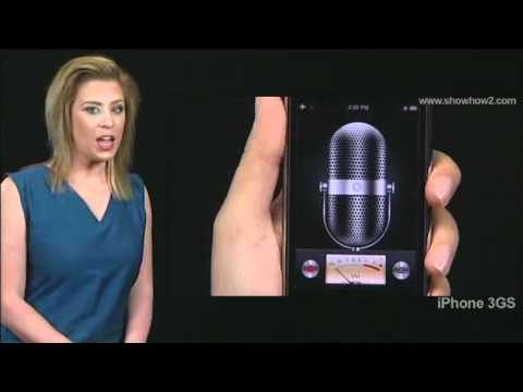 iPhone 3GS - How to start or stop recording voice memos with voiceover
