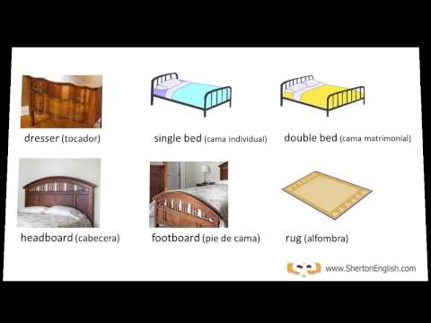 Vocabulario Inglés - El Dormitorio (The Bedroom) - Comodo En Ingles ...