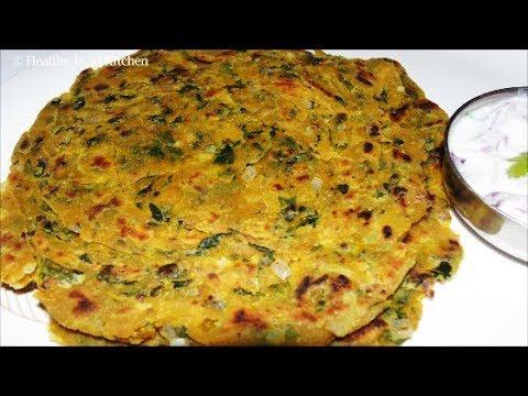 Methi Paratha Recipe - Methi Laccha Paratha Recipe -Vendhaya Keerai Paratha - Wheat Paratha Recipe