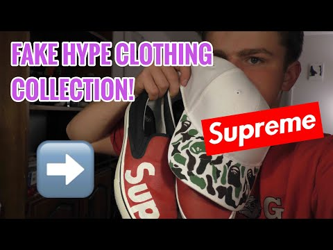 FAKE HYPEBEAST CLOTHING COLLECTION! (BAPE/SUPREME CUSTOMS!)