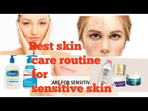 Skin care routine for sensitive skin|| get clear and glowing skin|| get rid or bumps