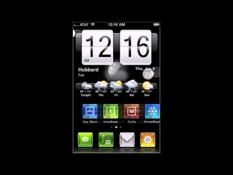 How to get HTC weather widget in cydia with working weather