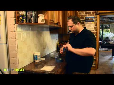 Removing a stain from granite countertop using Oxy-Klenza