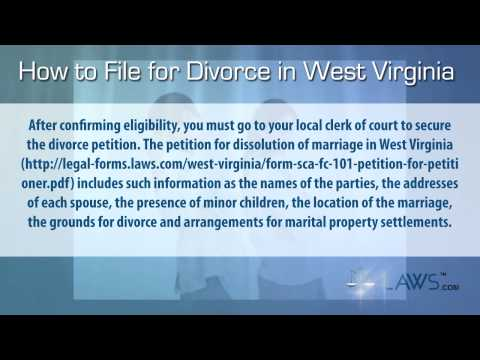 How to File For Divorce in West Virginia