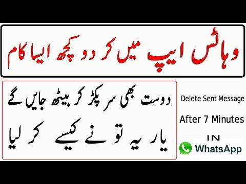Delete Sent Message After 7 Minutes In WhatsApp Urdu/Hindi