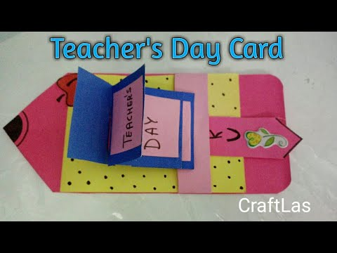 Teacher' Day Waterfall Card Making Idea | How To | CraftLas