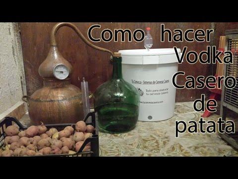 Como hacer Vodka de patata casero, fermentando y destilando. Licor