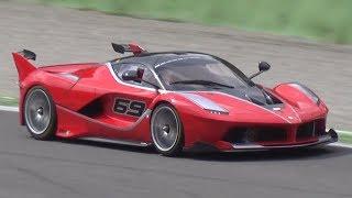 Ferrari FXX K & 599XX - INSANE V12 Engine SOUND at Monza Circuit!