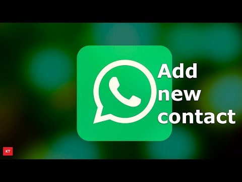 How to add new contacts in WhatsApp on android device