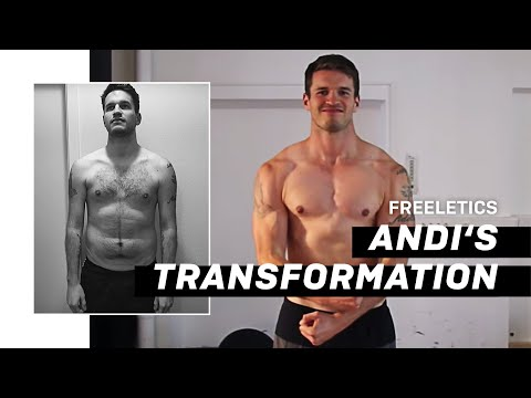 Muscle Gain Body Transformation - Skinny to Superman with Freeletics Nutrition