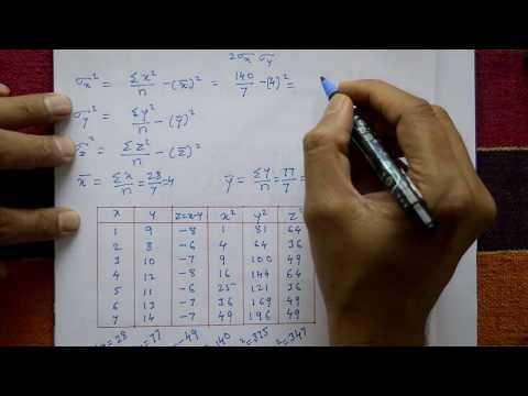 VTU Engineering Maths 3 coefficient of correlation & line of regression example(PART-1)