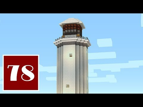 Minecraft Let's Play - 78- Lighthouse with Rotating Light: No Repeaters
