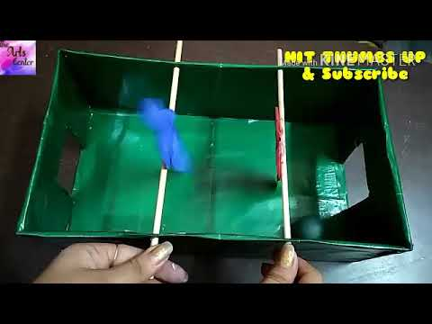 Easy Craft : How to make a Shoebox Football game , Football game tutorial for kids || by The Arts Ce