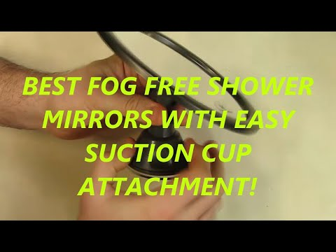 Fogless Fog free Shower Mirror with Rotating, Locking Suction Cup