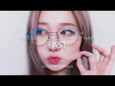 🍣Get soft, long, straight hair fast subliminal🍣
