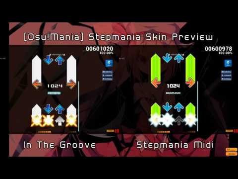 [Osu!Mania] Stepmania Skin Preview