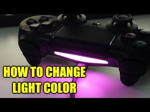 How To Change Color On PS4 Controller Lightbar