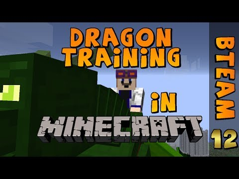 HOW TO TRAIN AND RIDE A DRAGON in MINECRAFT! - BTeam Ep 12