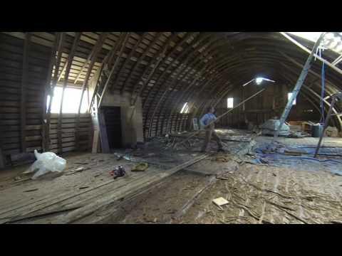 Barn Preservation -  repairing a partially rotten built-up truss