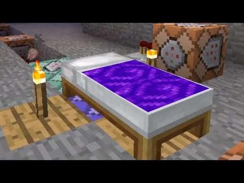 HOW TO MAKE BED PORTAL with command blocks in Minecraft PE