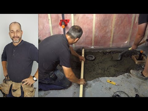 How To Back Fill And Pour New Concrete In Your Basement Professionally