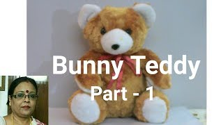 Handmade Bunny Teddy Making Part -1/Soft Toys Making / Debjani Creations Tutorial