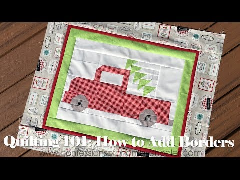 Quilting 101: How to Add Quilt Borders