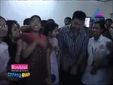 Prithviraj gets Mobbed By Girls in Womens College