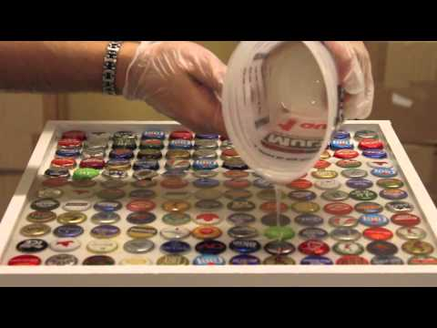 Bottle Cap Bar Top Tutorial
