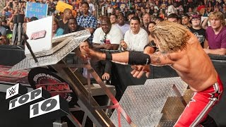 Superstars Demolishing WWE Equipment - WWE Top 10