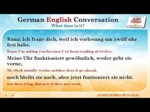 German English Conversation : What time is it?
