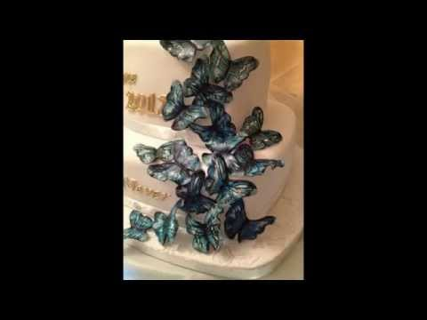 Edible handpainted Butterfly tutorial - Fondant Fetish..the art of sugar