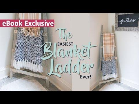 DIY Blanket Ladder + TOOL GIVEAWAY   3-Tools eBook