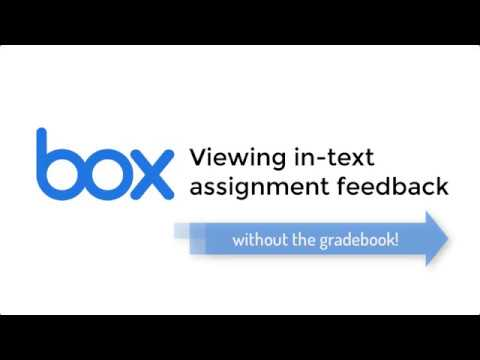 Viewing Assignment Feedback without the Gradebook