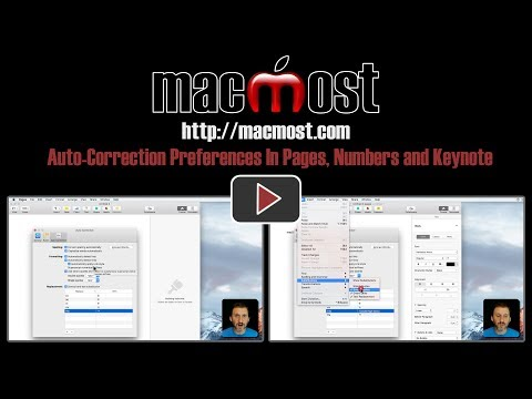 Auto-Correction Preferences In Pages, Numbers and Keynote (#1427)