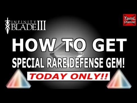 Infinity Blade 3: HOW TO GET SPECIAL RARE DEFENSE GEM! (TODAY ONLY!!)