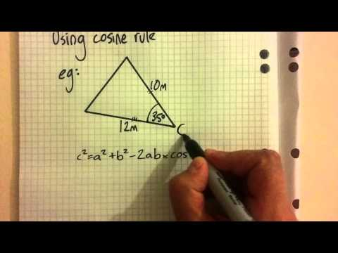 Cosine rule for finding sides of triangles: non-right-angled trigonometry